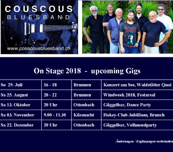 On Stage 2018 - upcoming Gigs